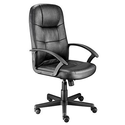 Staples silla de ejecutivo de piel negra para oficina for Sillones ejecutivos para oficina