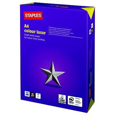 f35f9405d Staples Colour Laser Papel para Impresoras Láser Blanco A4 90 g m² ...