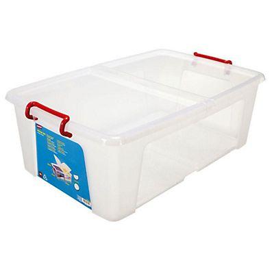 Staples caja almacenamiento pl stico con tapa apilable for Tapas de plastico