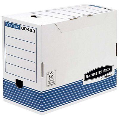 4bb0c0c8d Bankers Box Caja Archivo Definitivo Cartón A4, Automontaje Fastfold, Tapa  fija, Blanco y