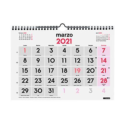 Finocam calendario 2018 mural n meros grandes castellano for Calendario de pared 2018