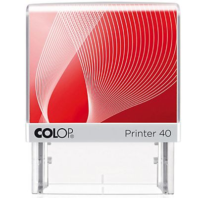Colop Printer 40 G7 Sello personalizable con entintaje automático tinta roja