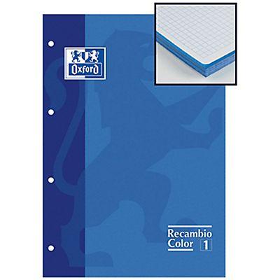 Oxford Recambio color de 80 hojas cuadriculado 5x5 azul Formato A4 ...