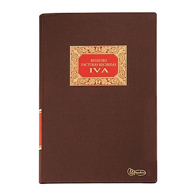 MIQUELRIUS M Libro contable IVA compras Folio natural 215 x 315 mm