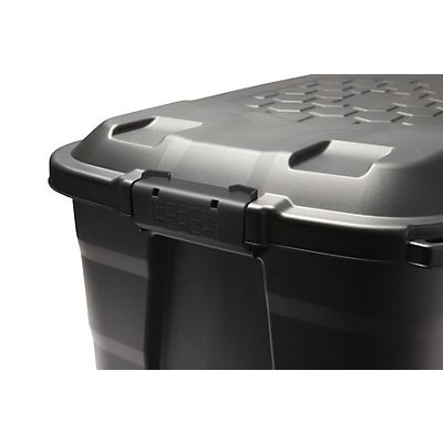 Sustainable earth by staples caja de resistente pl stico - Cajas de plastico con ruedas ...