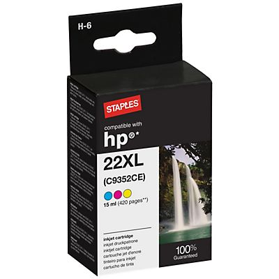 Staples Compatible HP 22XL Cartucho de tinta Tricolor