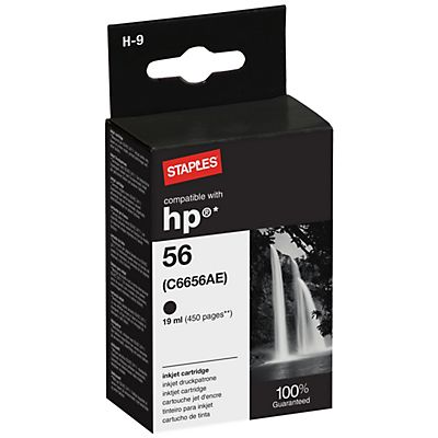 Staples Compatible HP 56 Cartucho de tinta Negro