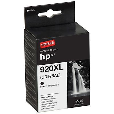 Staples Reciclado HP 920XL Cartucho de tinta Negro