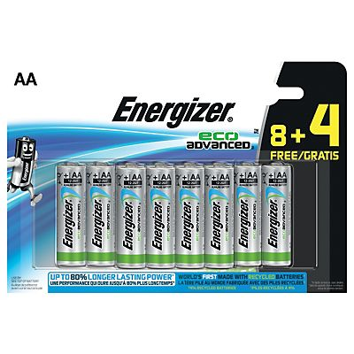 energizer alkaline eco advanced aa lr06 1 5 v no