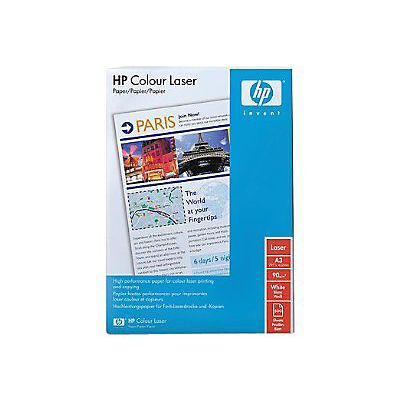 HP Colour Laser, papel para láser, A3, 90 g/m², blanco