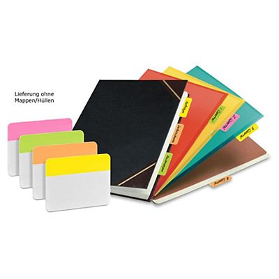 Post-it® Separadores resistentes, 50,8 x 38 mm, colores variados, 24 separadores