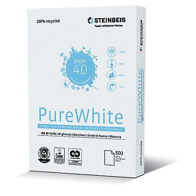 11ade25aa Steinbeis Vision Pure White Papel Reciclado Multifunción para Faxes ...