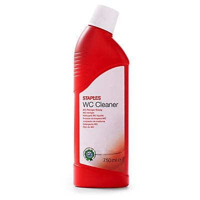 Staples Limpiador WC, fragancia de pino, concentrado rojo, 750 ml
