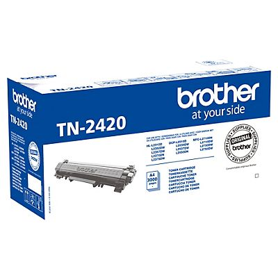 Brother TN-2420, Tóner Original, Negro, Alta Capacidad