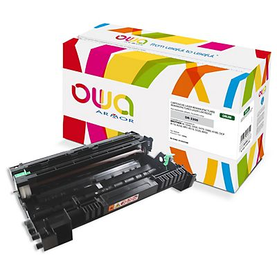 OWA DR-3300, Tambor remanufacturado compatible con Brother, Negro