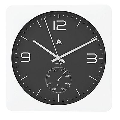 eaf21a5f5466 Alba Reloj de pared blanco con fondo negro