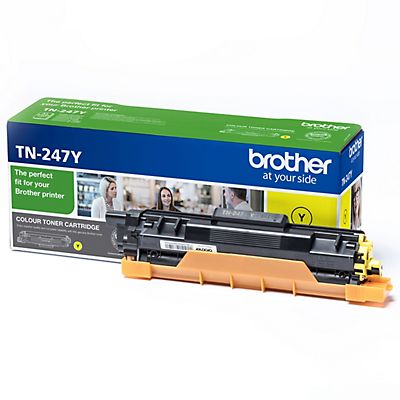 Brother TN-247, TN247Y, Tóner Original, Amarillo, Alta Capacidad