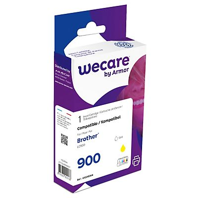 Wecare LC900 Y, LC900Y, Cartucho de Tinta, compatible con BROTHER, Amarillo