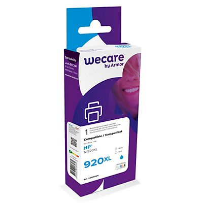Wecare 920XL C, CD972AE, Cartucho de Tinta remanufacturado, compatible con HP, Cian