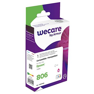 Wecare T0806, Cartucho de Tinta remanufacturado, compatible con EPSON, Magenta Photo