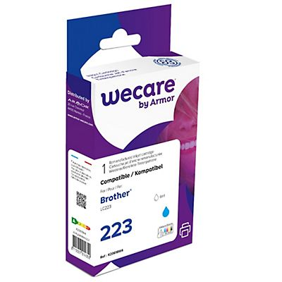 Wecare 223, LC223 C, Cartucho de Tinta remanufacturado, compatible con BROTHER, Cian