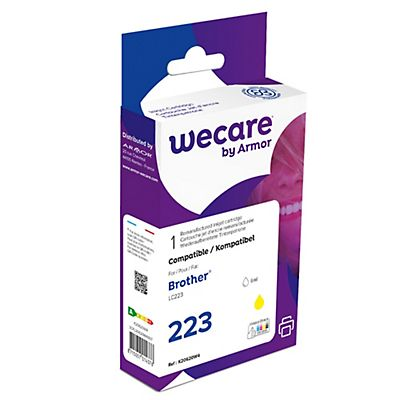 Wecare 223, LC223 Y, Cartucho de Tinta remanufacturado, compatible con BROTHER, Amarillo
