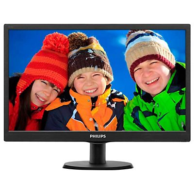 Philips V Line Monitor LCD con SmartControl Lite 193V5LSB2/10, 47 cm (18.5), 1366 x 768 Pixeles, HD, LED, 5 ms, Negro
