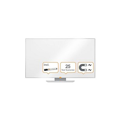 Nobo Widescreen Lavagna da parete, Superficie smaltata magnetica, 1229 x 698 mm<BR>