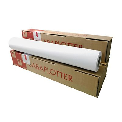 Sa.Ba.cart Carta per plotter in rotolo, 90 g/m², 61 cm x 50 m