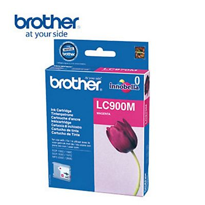 Brother Cartuccia inkjet LC900M, LC-900M, Magenta, Pacco singolo