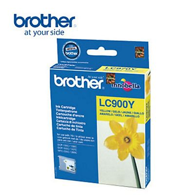 Brother Cartuccia inkjet LC900Y , LC-900Y, Giallo, Pacco singolo