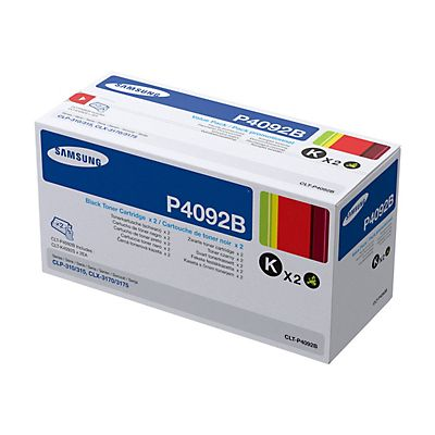 Samsung Toner originale P4092B, CLT-P4092B/ELS, Nero, Value Pack