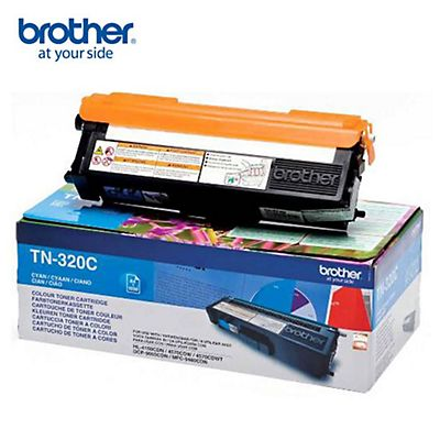 Brother Toner originale TN-320C, Ciano, Pacco singolo