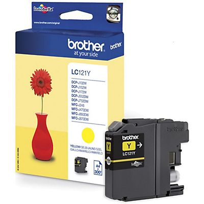 Brother Cartuccia inkjet LC121Y, LC-121Y, Giallo, Pacco singolo