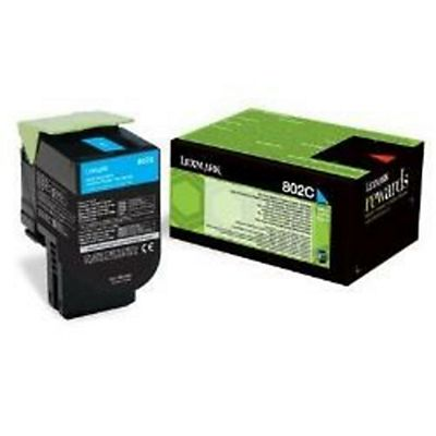 Lexmark , Materiale di consumo, 802c toner return program ciano, 80C20C0