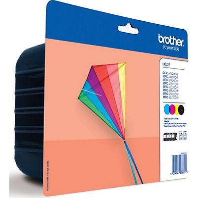 Brother Cartuccia inkjet LC-223VALBP Nero, Ciano, Magenta, Giallo Multipack