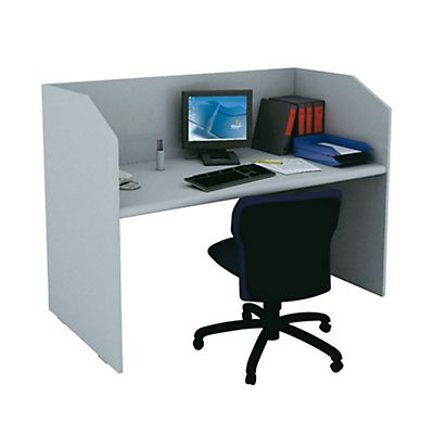 Staples Linea Pronto Postazione call center, 125 x 80 x 119 cm, Grigio