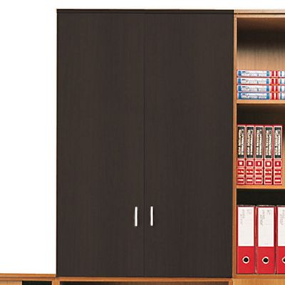 Linea Office Mobile medio con ante battenti, Nero, 80,4 x 38 x 120,4 cm