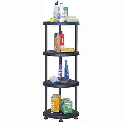 MOBIL PLASTIC Angoliera modulare Stand - cm 39,2 x 39,2 x 136 h.