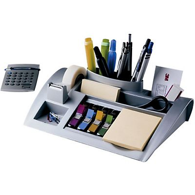 Post-it® C50 Organizer da scrivania con Nastro Magic™ Trasparente 19 mm x 33 m e Segnapagina Index piccoli Colori assortiti e Foglietti Post-itcolore giallo Canary™