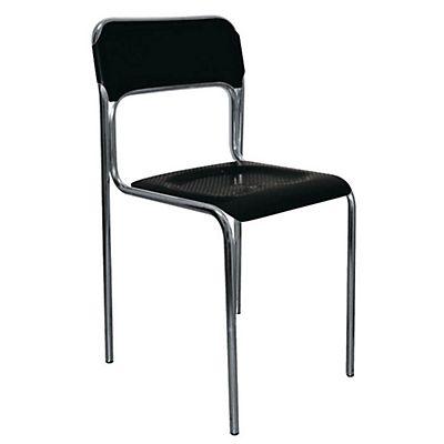 Crystal sedia attesa impilabile polipropilene nero staples - Sedia polipropilene impilabile ...