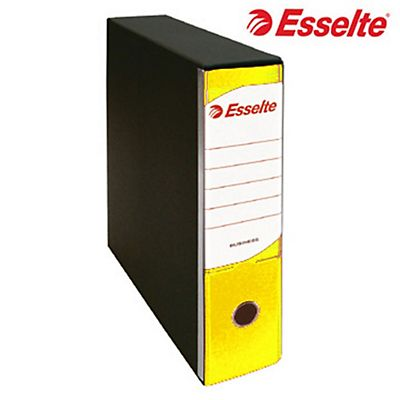 Esselte Business Registratore archivio, Formato Commerciale, Dorso 8 cm, Cartone, Giallo