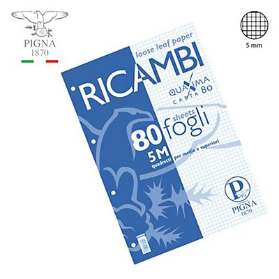 PIGNA Ricambi - F.to A4 - Quadretto 5 mm