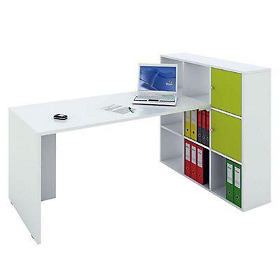 Scrivania Libreria Per Computer.Multicolor Postazione Lavoro Scrivania Libreria A 9 Caselle Bianco