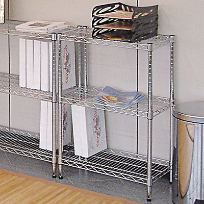 Scaffale in acciaio 3 ripiani cm 60 x 35 x 90 h for Scaffali per ufficio acciaio