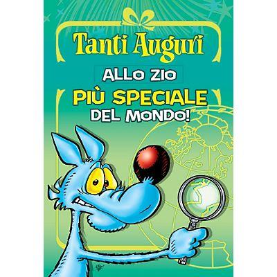 Biglietti Auguri Matrimonio Lupo Alberto : Biglietto auguri lupo alberto con etichetta adesiva