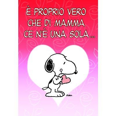 Conosciuto Biglietto Auguri per la Festa della Mamma, Snoopy, 12 x 18 cm  PW27