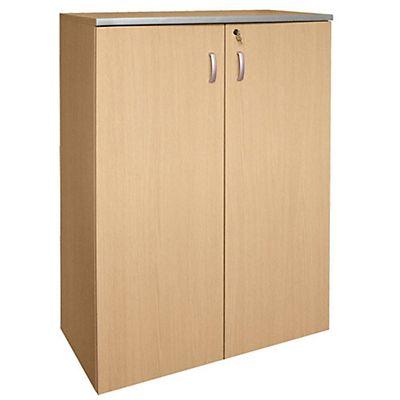 Coppia ante in legno con serratura per armadio medio a for Mobile basso ufficio