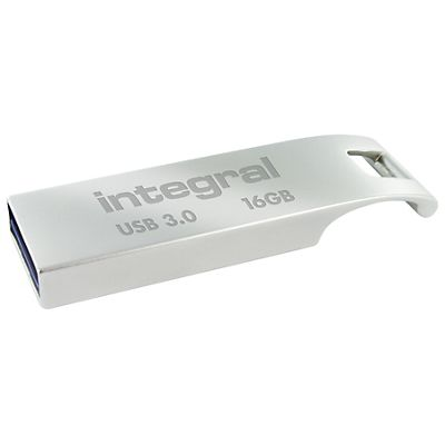 INTEGRAL MEMORY Metal ARC Flash Drive 16 GB USB 3.0, Argento