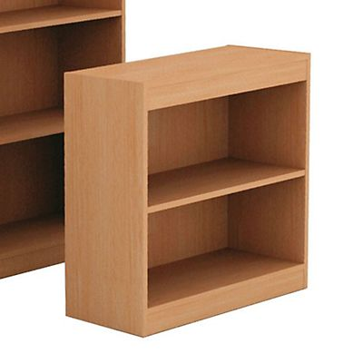 Book Libreria componibile Bassa 2 Ripiani, dimensioni 76 x 29 x 73 cm,  colore Noce chiaro